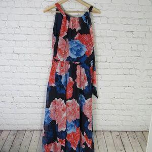 INC International Concepts Dress Womens 6 Blue Red